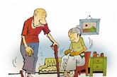 身长缩短、驼背   多在疼痛后出现。脊椎椎体前部几乎多为松质骨组成,而且此部位是身体的支柱,负重量大,容易压缩变形,使脊椎前倾,背曲加剧,形成驼背,随着年龄增长,骨质疏松加重,驼背曲度加大,致使膝关节挛拘显著。(图片来源:凤凰网健康)