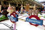 是美食还是艺术 牛人用蛋糕打造伦敦地铁线路图