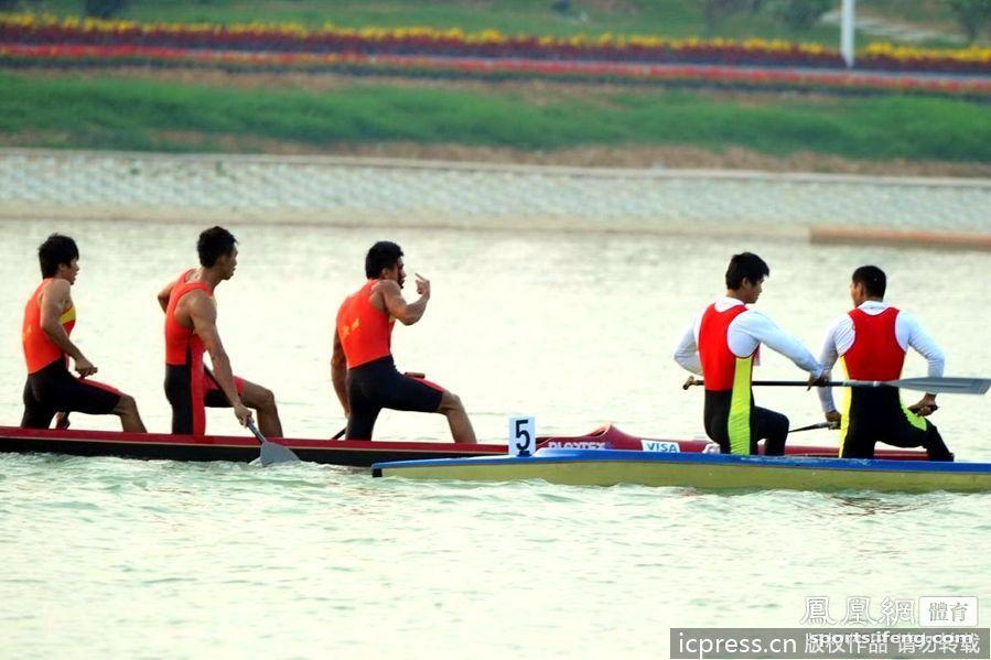 城运会皮划艇选手挥桨打斗 广州队员头破血流[高清]
