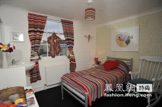 英国设计师编织梦想 打造温馨毛线房间