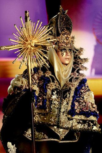 2012毛戈平学校师生彩妆造型 中国时装周盛大举行