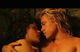 《特洛伊》中与好莱坞俊男布拉德 皮特出演激情场面
