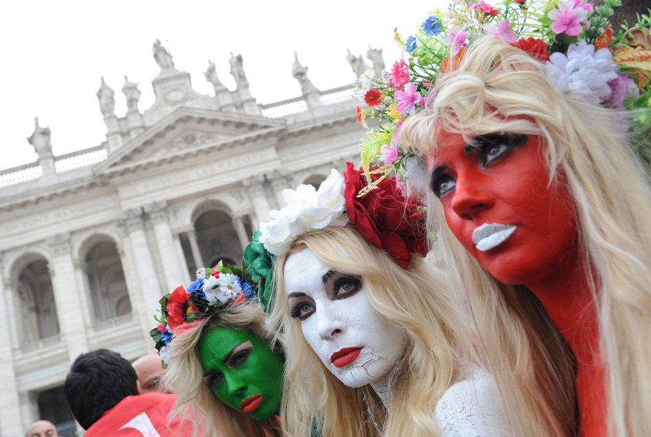 乌克兰美女裸体彩绘抗议意丑闻性美女总理美女网图片