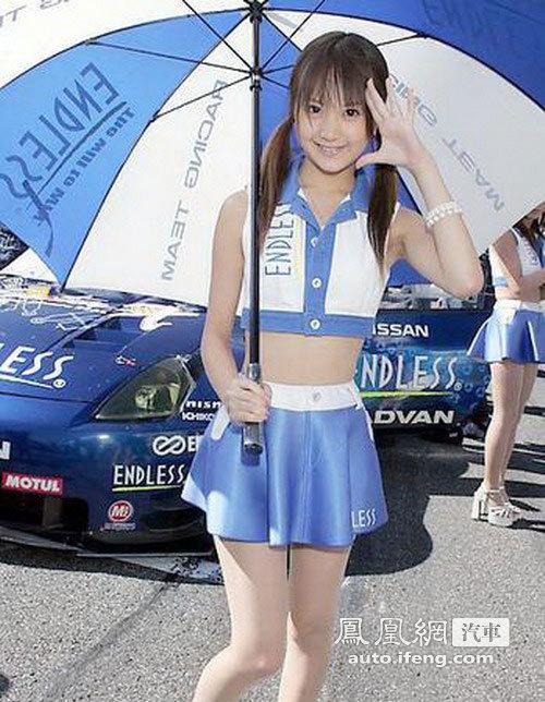 清纯日本赛车美女可爱诱人 汽车频道