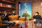 林聪和杨葵在凤凰网读书会现场