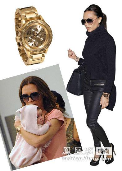 金色腕表引最新时尚潮流 学贝嫂如何成功抢镜