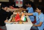 女子国象世团赛 中国胜印度成就三连冠(组图)