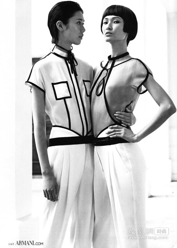 Emporio Armani 春夏时尚大片 中国模特走向国际