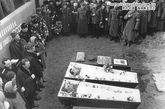 1969年3月6日,斯特列利尼科夫中尉和布依涅维奇上尉的葬礼。
