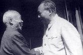 毛泽东接见回归大陆的李宗仁。