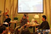 苏紫紫、九把刀和刘春荣在凤凰网读书会现场