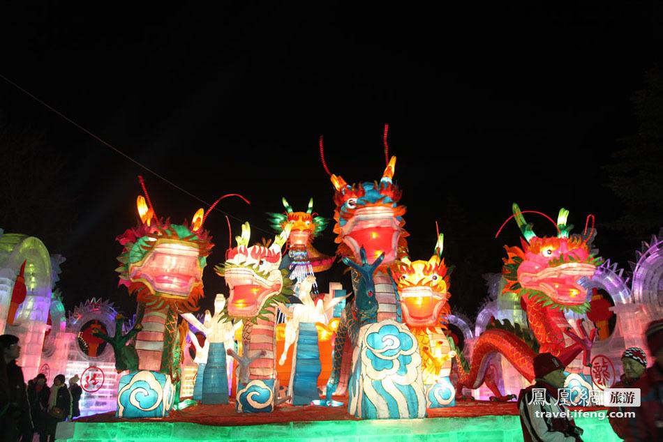 哈尔滨冰灯游园会 华丽炫彩的冰灯世界