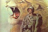 二战意大利法西斯宣传画。