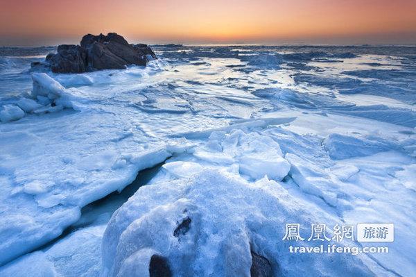 北戴河贝壳岛实拍美丽日出