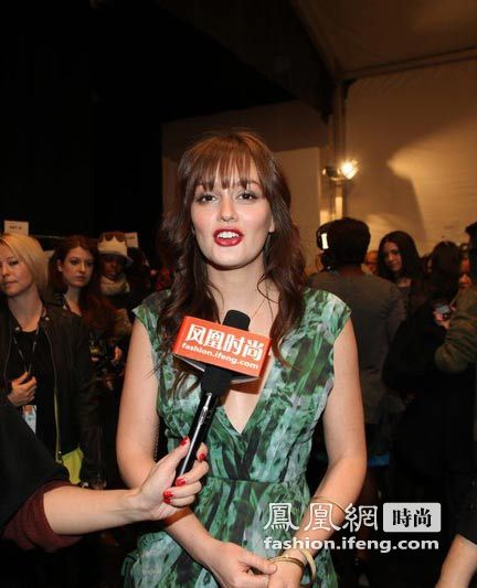 凤凰时尚独家专访 绯闻女孩QUEEN B现身纽约时装周