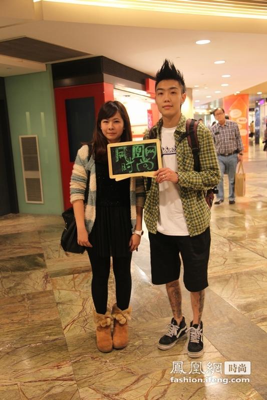 凤凰时尚独家呈现 北京香港纽约三地街头潮范情侣秀