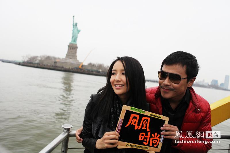 凤凰时尚独家直击 佟丽娅陈思成纽约爱情故事