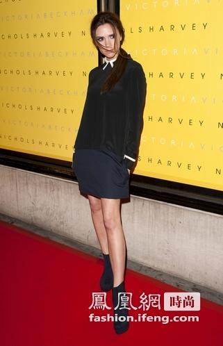 2012伦敦秋冬时装周拉开帷幕 维多利亚-贝克汉姆学院风超酷助阵