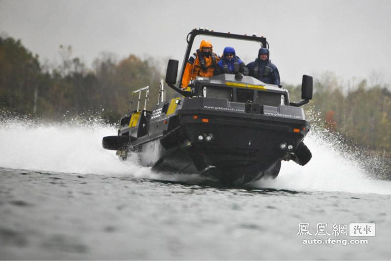 吉布斯推出新款水陆两栖卡车 车亦是船 6 18高清图片