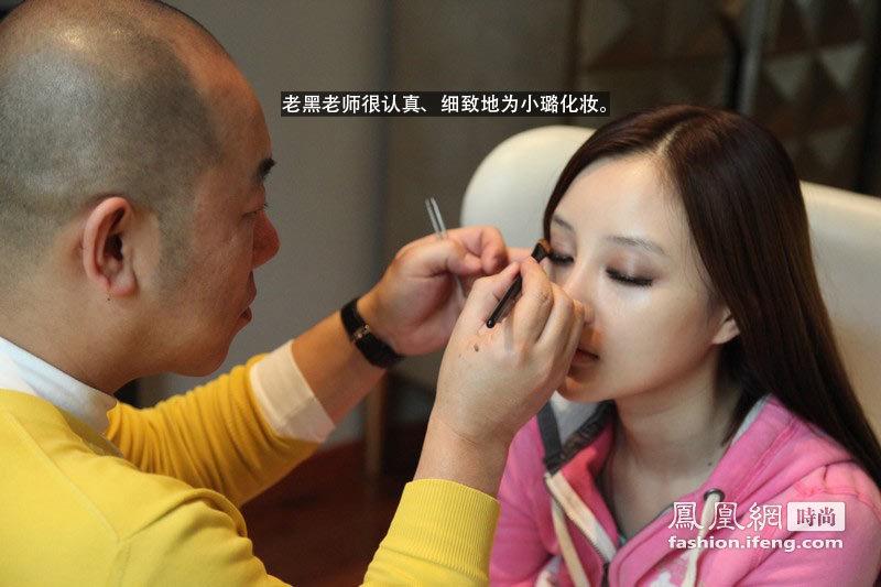李小璐参加Dior秀造型全过程 复杂发辫花费2小时