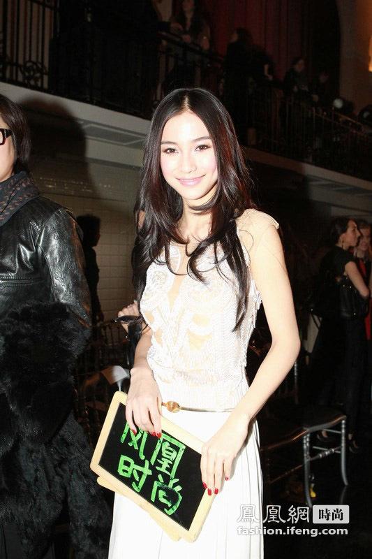 李晖雨伞也能当装饰 Angelababy、林鹏白裙飘飘