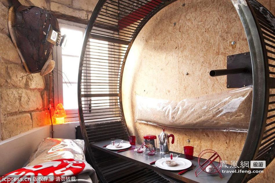 """法国酒店""""仓鼠小屋"""" 体验吃谷物睡干草的别样乐趣"""