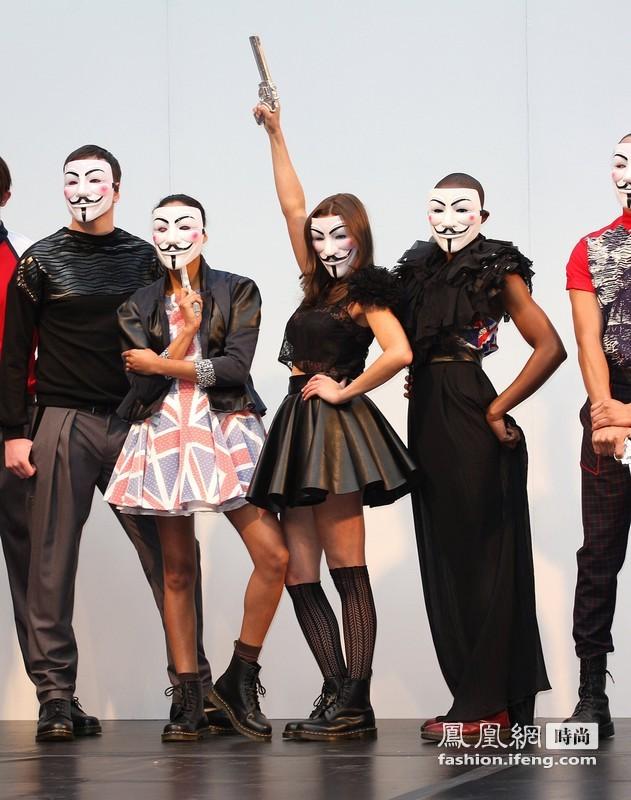 伦敦/2012伦敦Alternative时装周,模特戴《V字仇杀队》面具走秀吸睛...