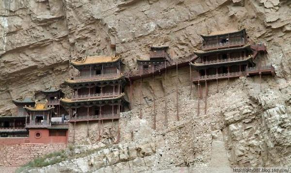 惊叹!全球绝壁逢生的寺庙奇观(高清组图) - 大笨鹅 - 鹅舍