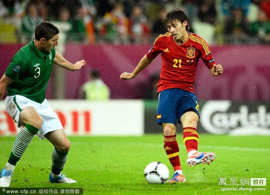2012年欧洲杯,c组次轮西班牙4-0爱尔兰.席尔瓦左脚技术令人神魂颠倒.图片