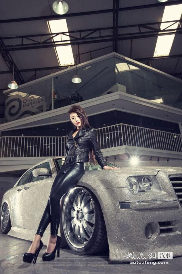 惹火美女与克莱斯勒300C钻石车缠绵悱恻_菱绅