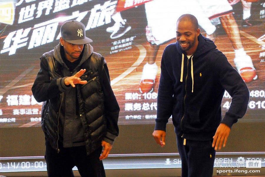 此次来榕参加世界篮球明星赛福州站比赛的