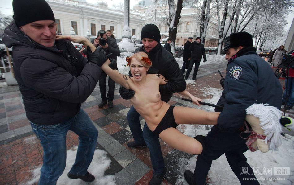 乌克兰LUO女国会前抗议被捕 - 翻波涌浪 - 翻波涌浪