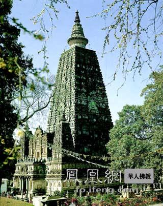 印度佛陀伽耶大塔(图片来源:慧海佛教资源库)