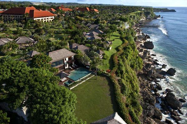 这是巴厘岛ayana酒店的俯瞰图.