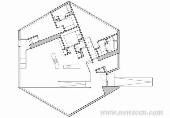 平面图level 0-六边形住宅