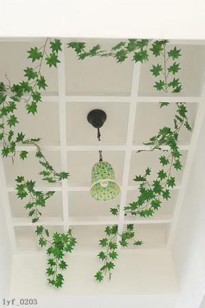仿真树叶吊顶效果图