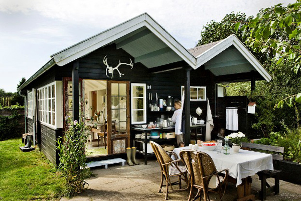 别墅花园之超时尚的solpletten小木屋(图)