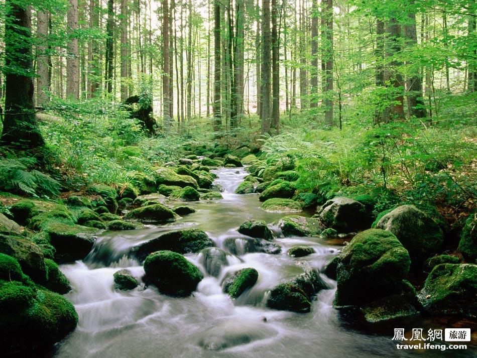 蜿蜒小溪手绘图
