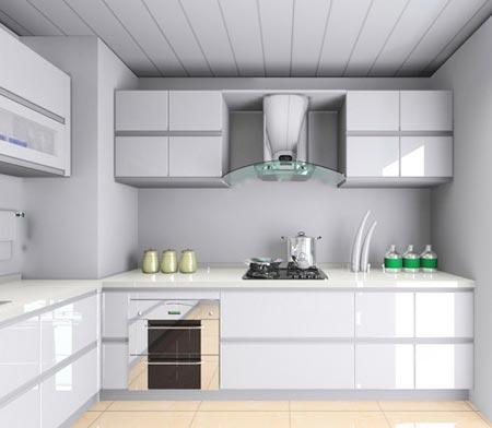 小户型厨房装修效果图 wbr 精致的浪漫高清图片