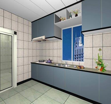 小户型厨房装修效果图 精致的浪漫(图)