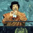 卡扎菲桀骜不驯 访问美国当众撕毁联合国宪章