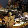 卡扎菲出国只住帐篷 演说冗长令翻译崩溃