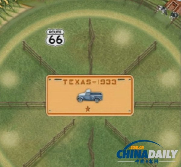 游戏/游戏最开始会展示一辆轿车或卡车,车的周围有一系列的标志。