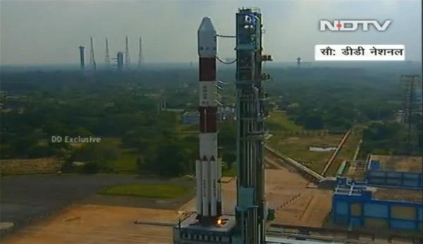 印度火星探测器发射前点火(视频截图)