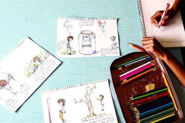 尿毒症日记用漫画书写女孩生命:杨树里有你们山生命_漫画图片
