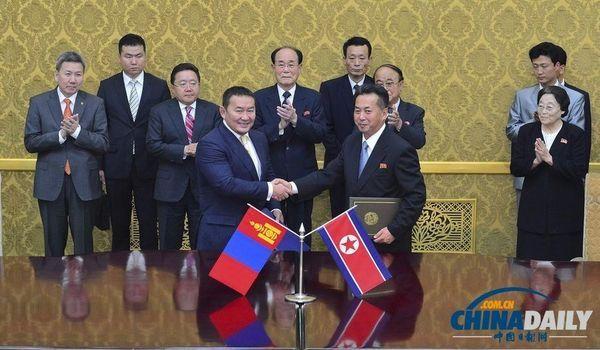 蒙古总统访问朝鲜 成金正恩执政后首位到访元首