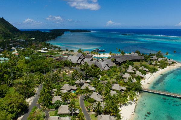 太平洋三大群岛—航拍法属波里尼西亚大溪地岛