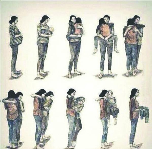 一组母亲看尽一生规则体现漫画漫画的图片