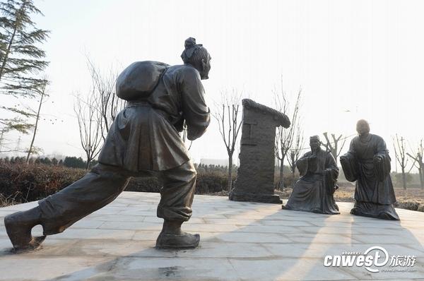 二十四孝雕塑之百里负米