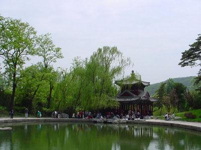 业界 国内游 > 正文  春天还是登山的好季节,初春的香山公园,绿地内的